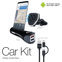Kit Safety Essentials Car Kit for Android - Black